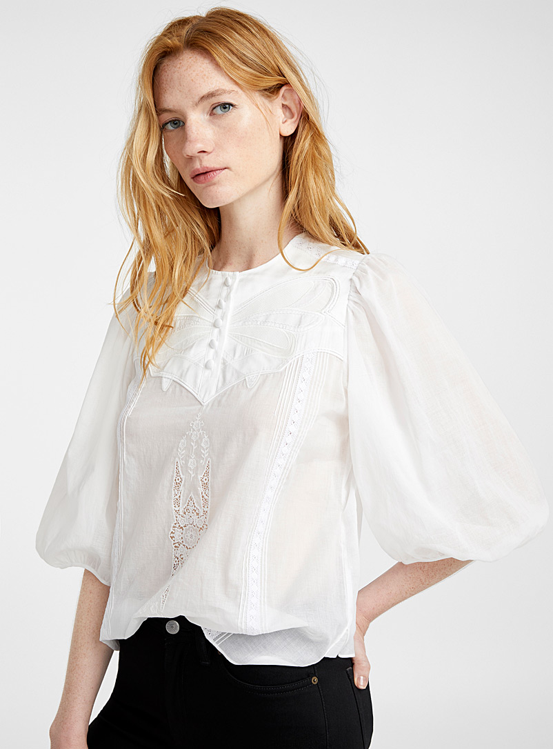 Butterfly applique top - Coach 1941 - White