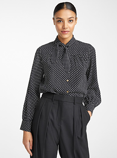 Dot Neckerchief blouse
