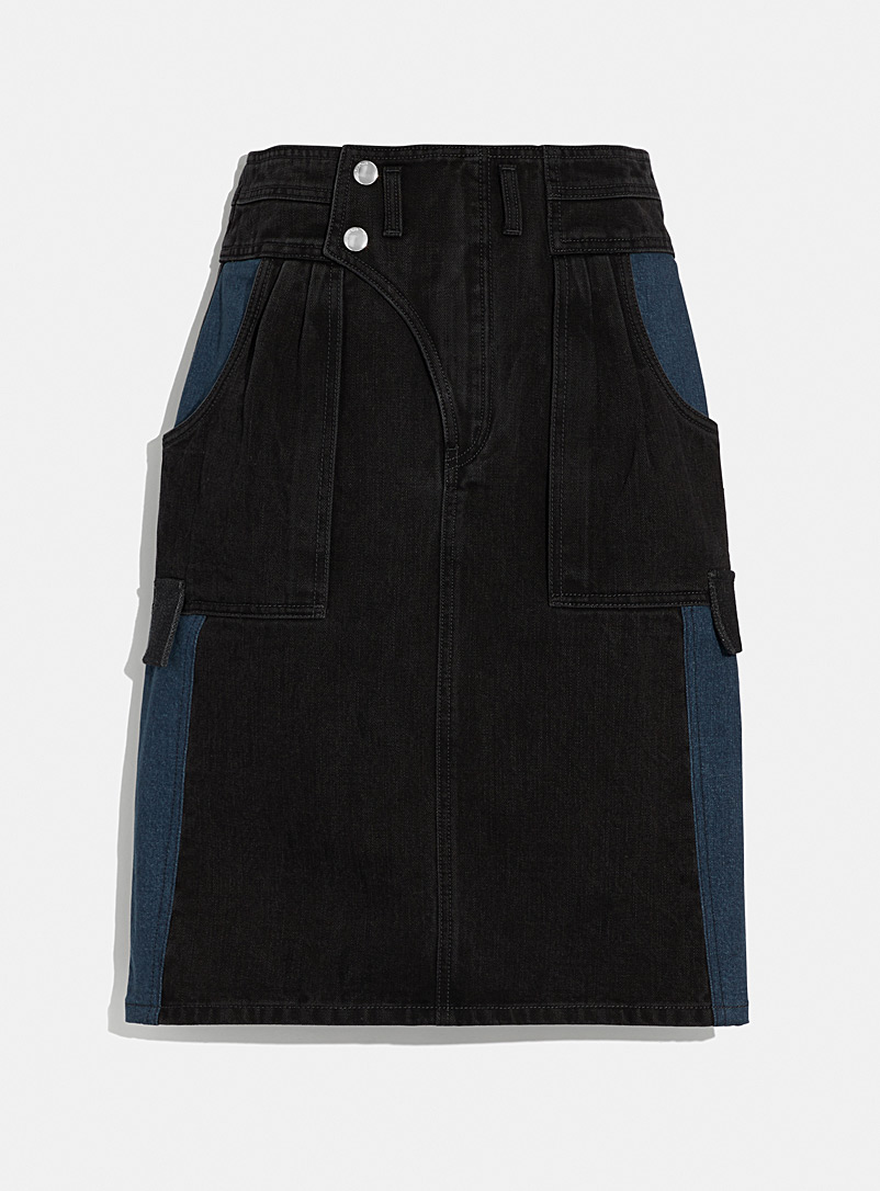 Coach 1941 Blue Two-tone denim skirt for women