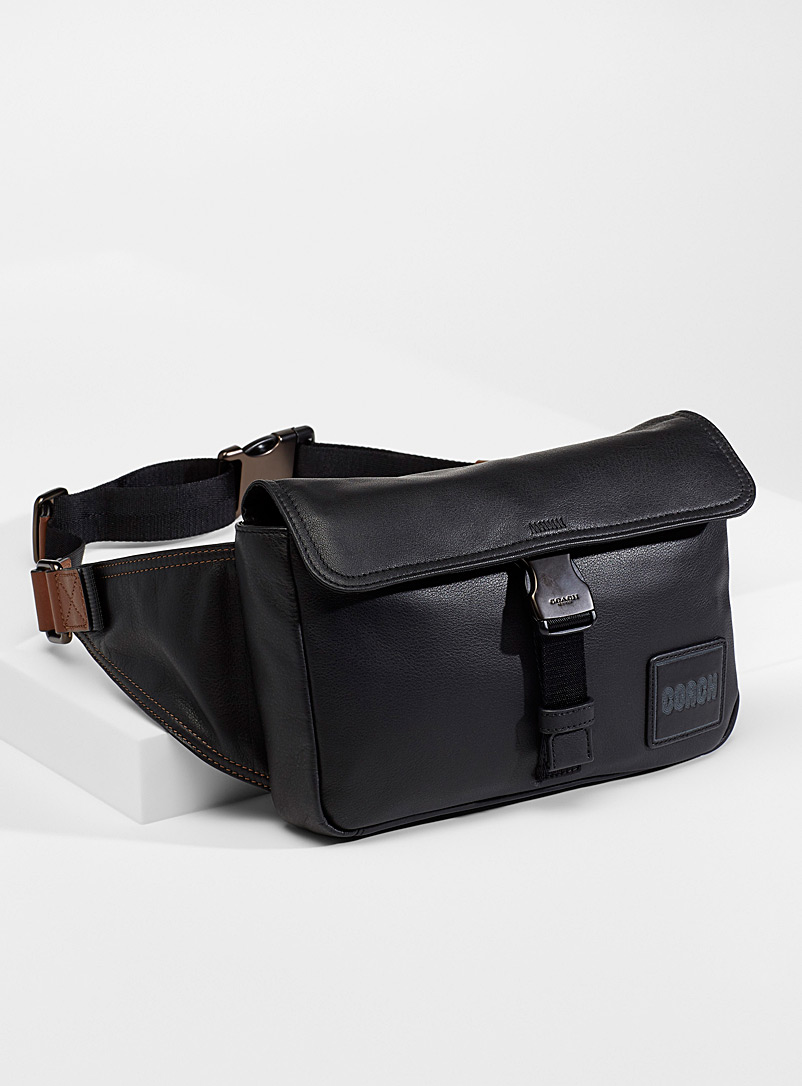Coach Black Pacer belt bag for men