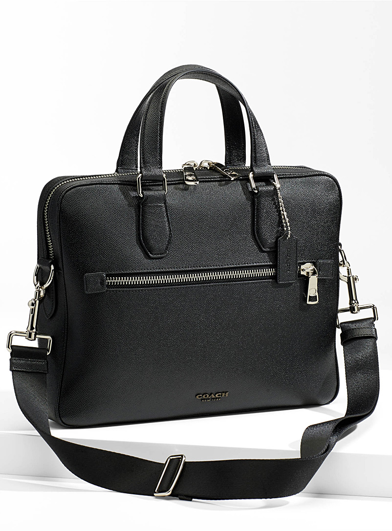 Coach Charcoal Kennedy briefcase for men