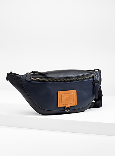 Coach Marine Blue Rivington belt bag for men