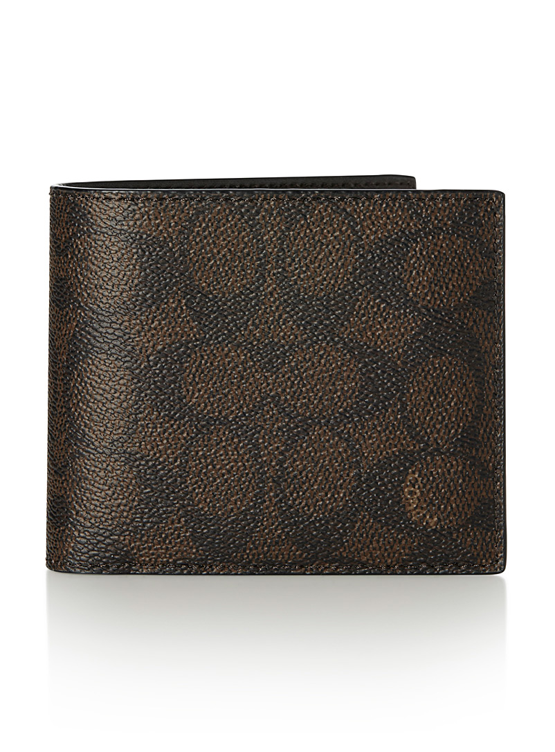 2-in-1 signature wallet - Wallets - Brown