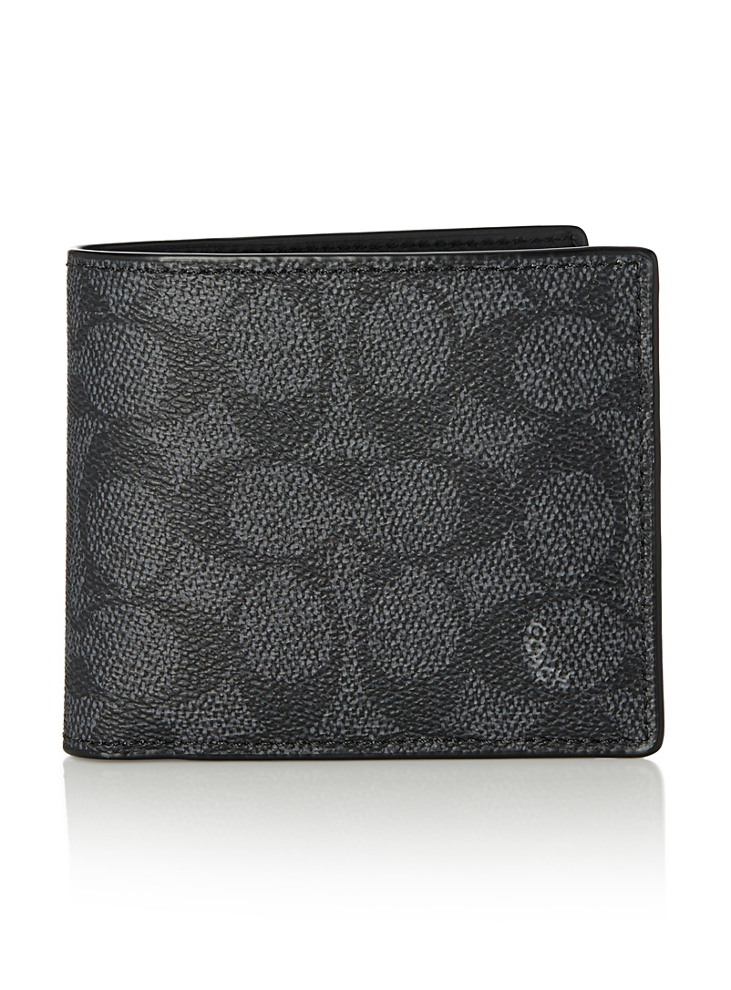 2-in-1 signature wallet - Wallets - Charcoal
