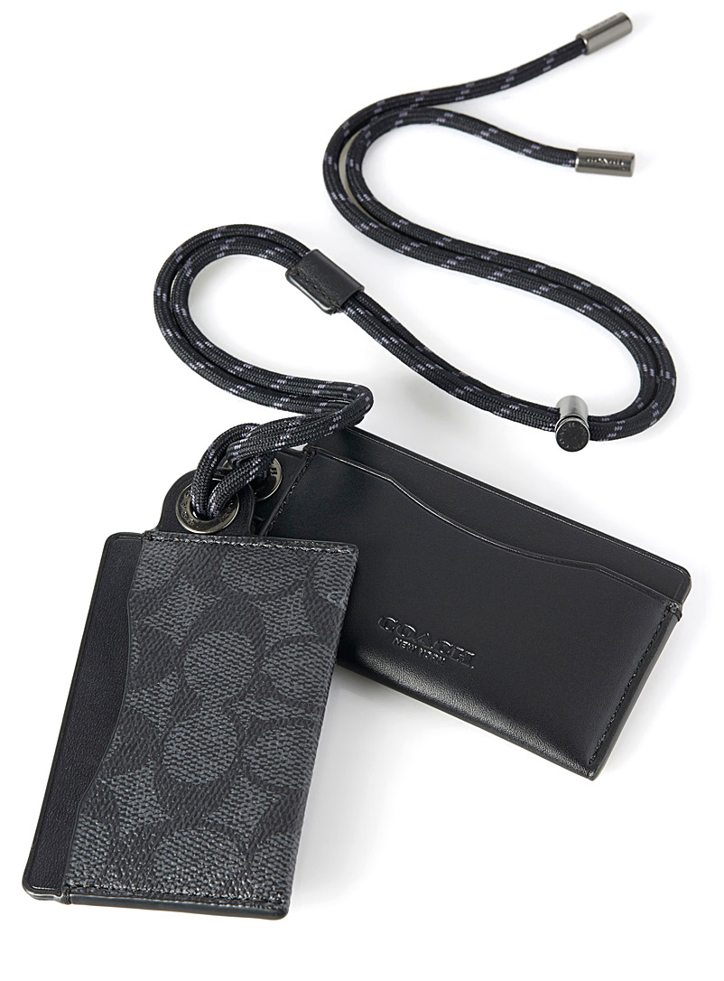 Utility card holder with strap - Wallets - Patterned Grey