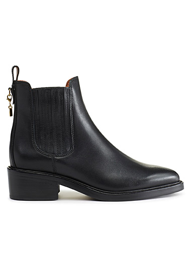Black Chelsea Bowery boots