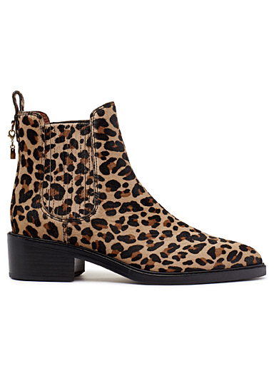 Leopard Chelsea Bowery boots