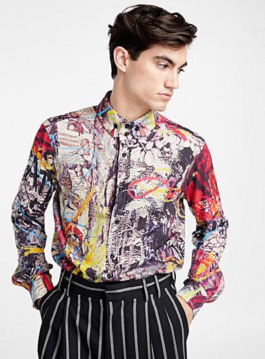 Krall multicolour print shirt