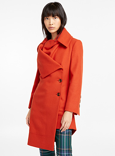 Single collar coat