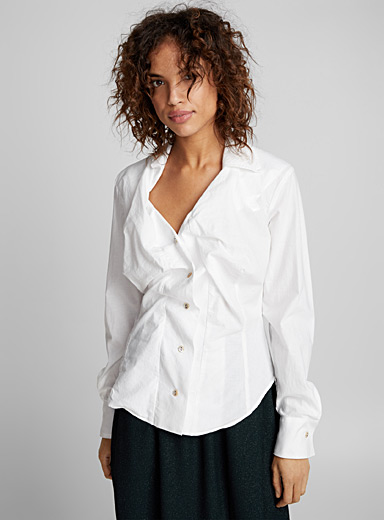 Alcoholic white blouse