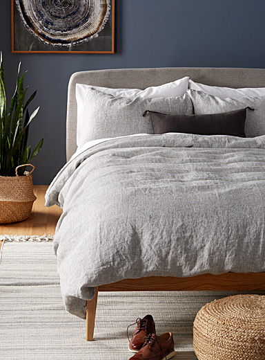 Chic chambray duvet cover set