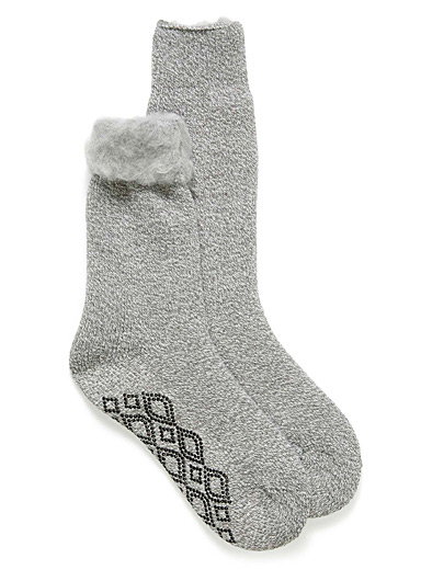 Heathered thermal socks