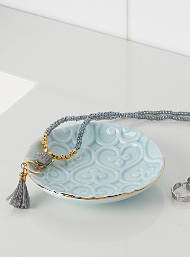 Simons Maison Baby Blue Embossed small pastel tray