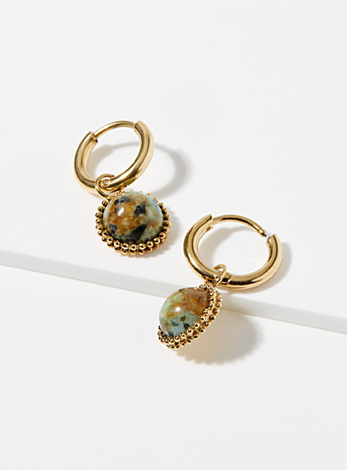 Turquoise cabochon earrings