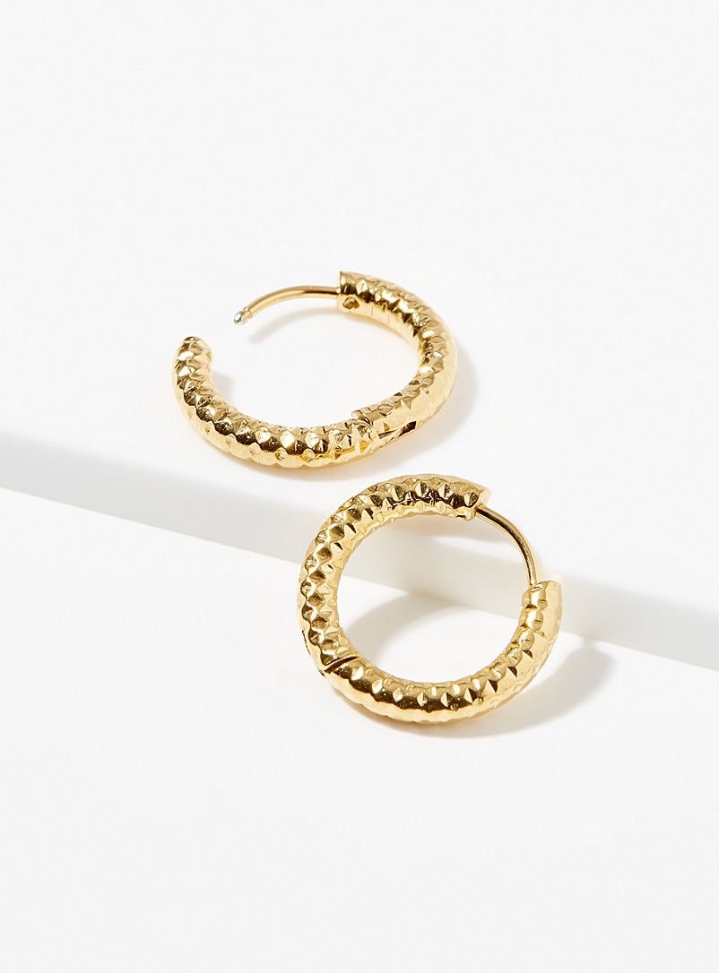 Zag Bijoux Gold Esther hoops for women