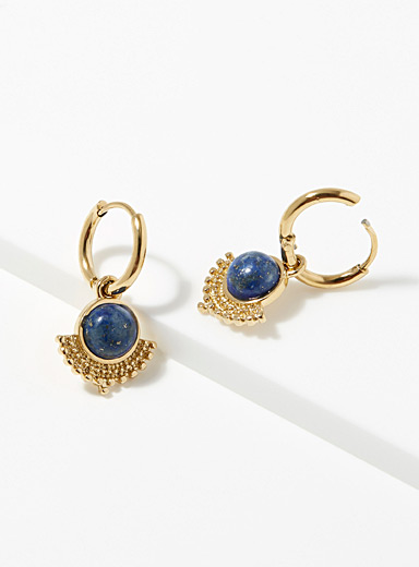 Zag Bijoux Assorted blue Gold lapis lazuli earrings for women