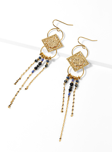 Oriental night earrings