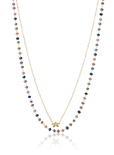 Le collier pierres multicolores