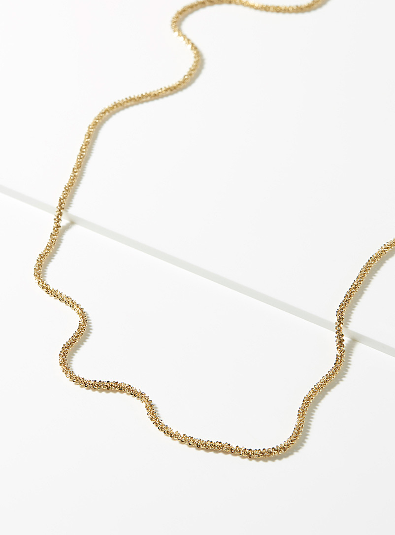 Zag Bijoux Golden Yellow Shimmery chain necklace for women