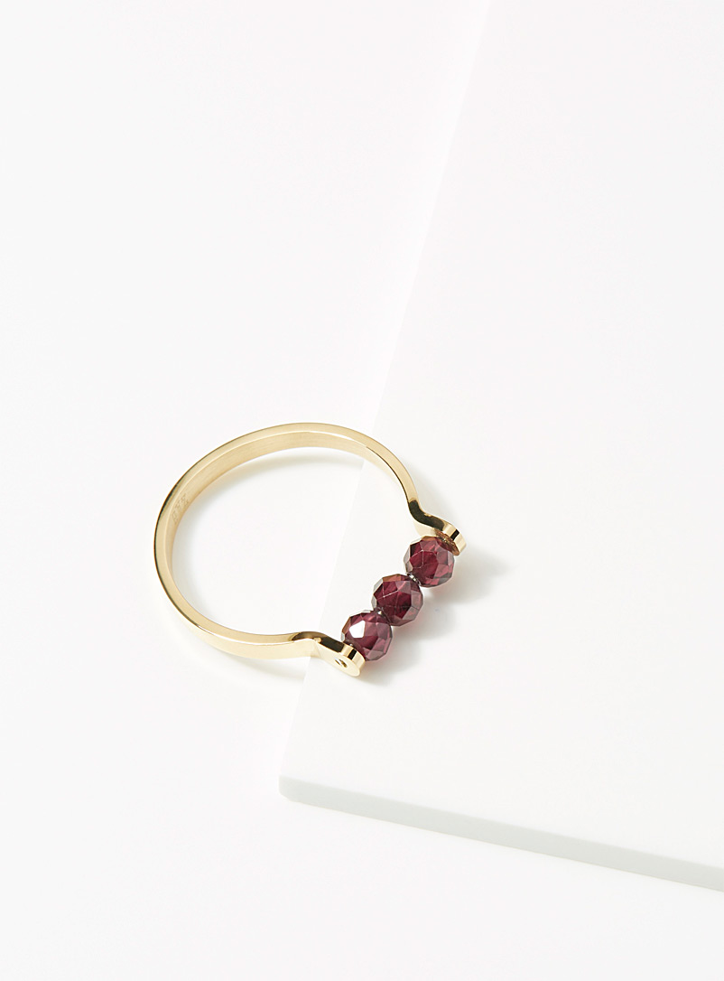 Burgundy stone ring - Rings - Ruby Red