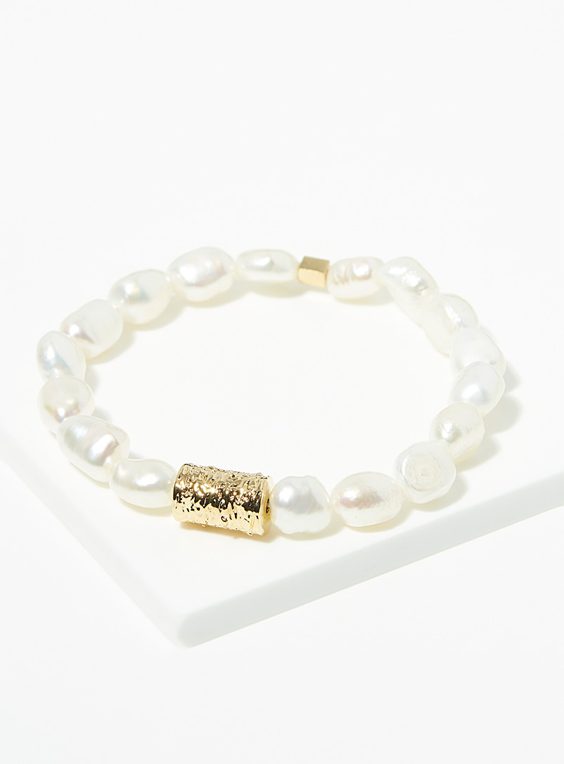 Zag Bijoux White Elegant pearl bracelet for women
