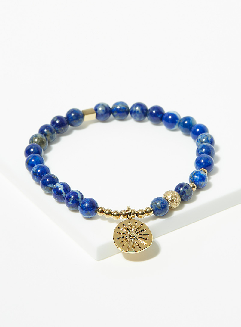 Zag Bijoux Assorted blue Dark blue gemstone bracelet for women