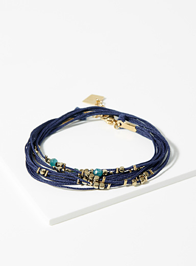 Zag Bijoux Golden Yellow Exotic trip bracelet for women