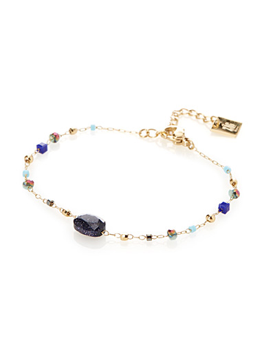 Multicoloured stone bracelet