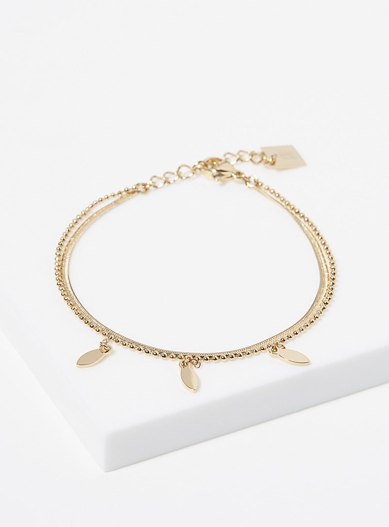 Zag Bijoux Gold Symi multi-strand bracelet for women