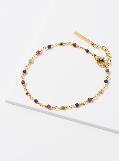 Zag Bijoux Assorted  Whimsical gem bracelet for women