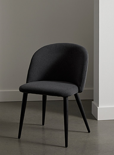 Matte black base rounded chair