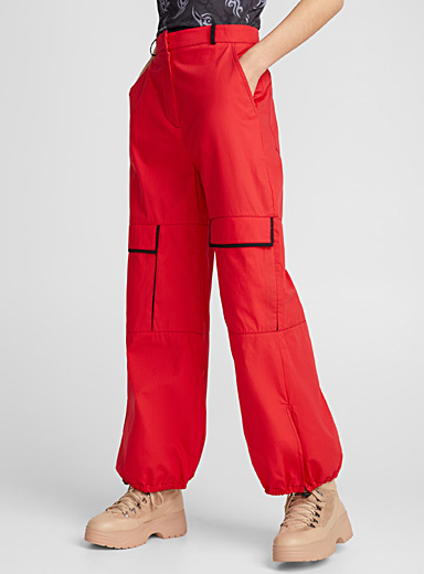 Red cargo pant