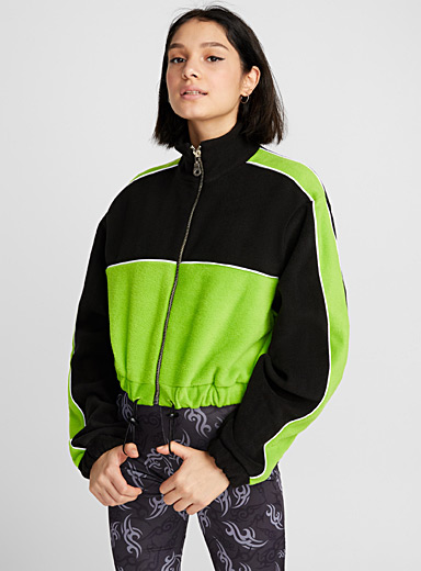 Neon green zip sweatshirt
