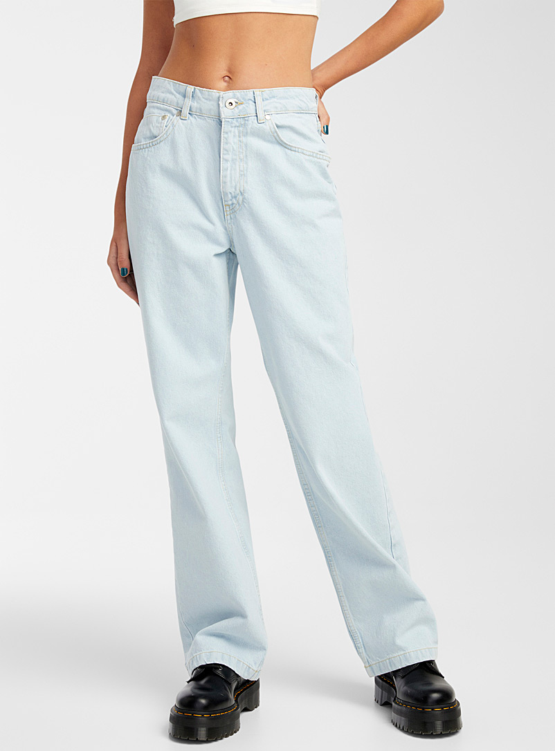 The Ragged Priest Baby Blue Pale blue dad jean for women