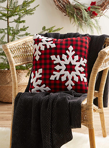 Snowy check cushion  16&quote; x 16&quote;