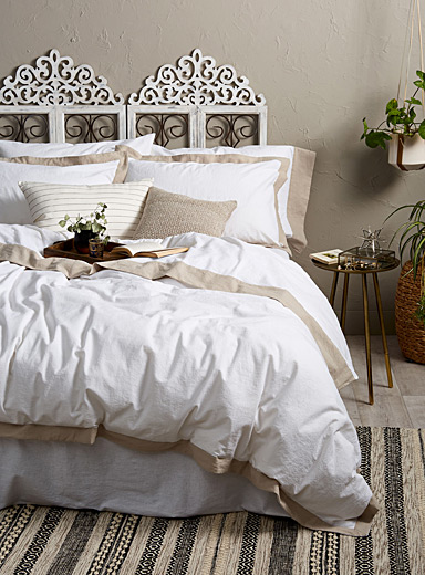 Linen-cotton duvet cover set