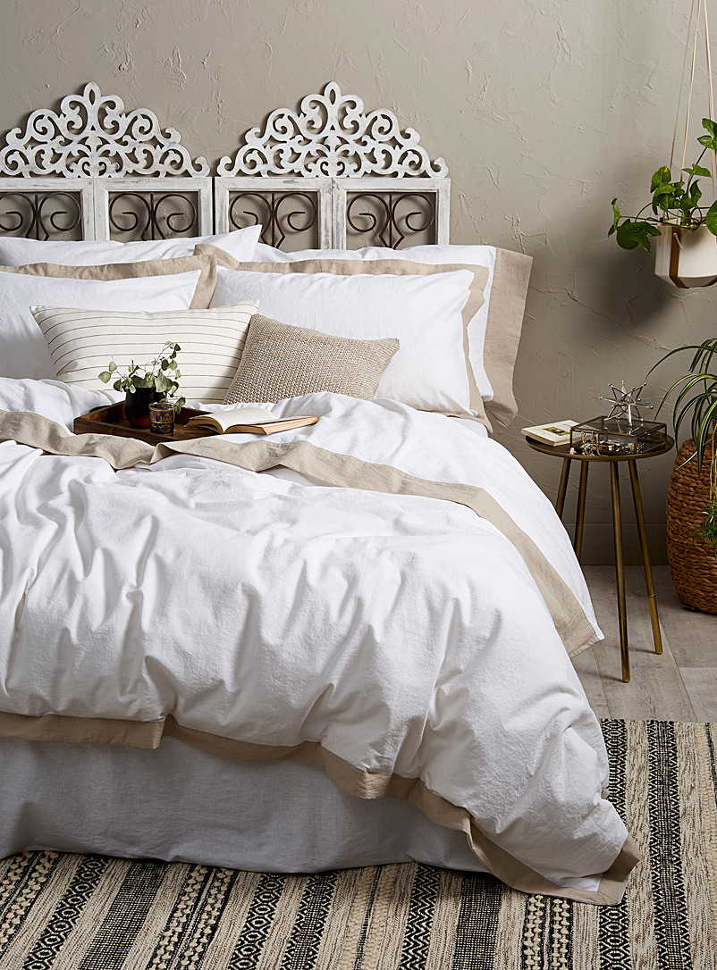 Simons Maison White Linen-cotton duvet cover set