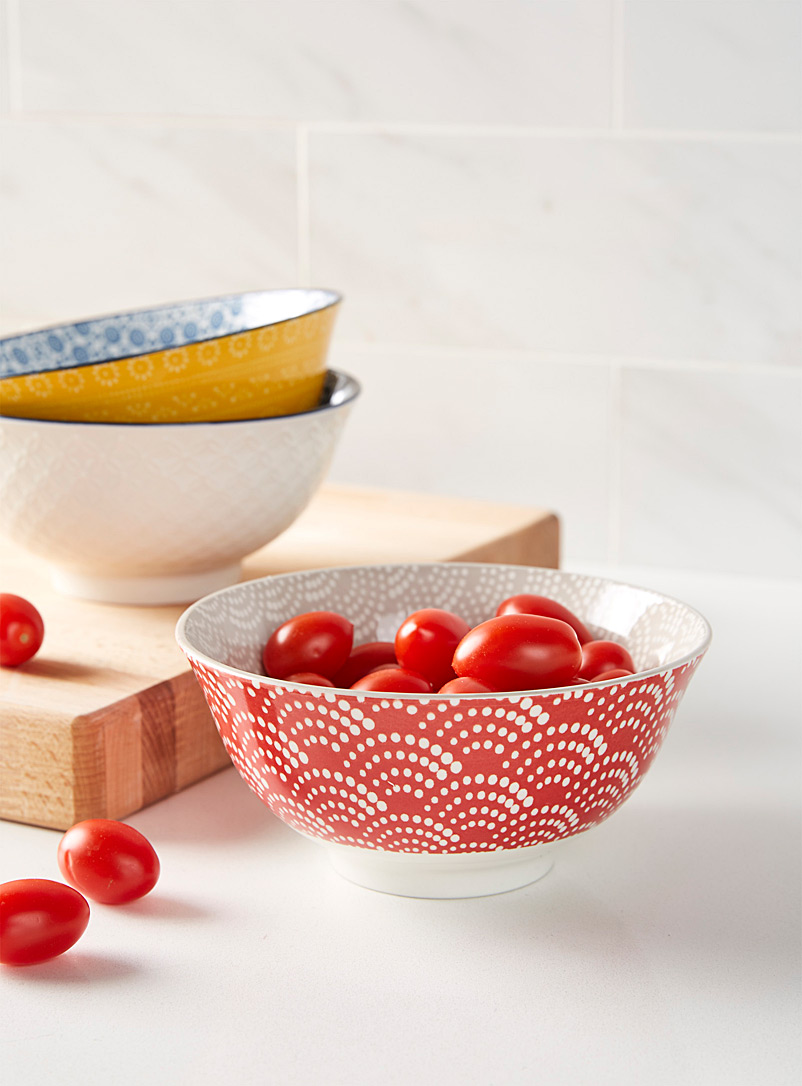 Simons Maison Red Concentric waves porcelain bowl