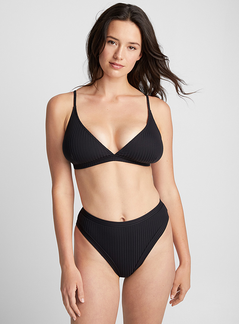 Ribbed triangle bralette top - Triangle