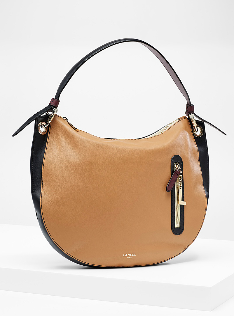 Lancel Patterned Brown Ellie M saddle bag for women