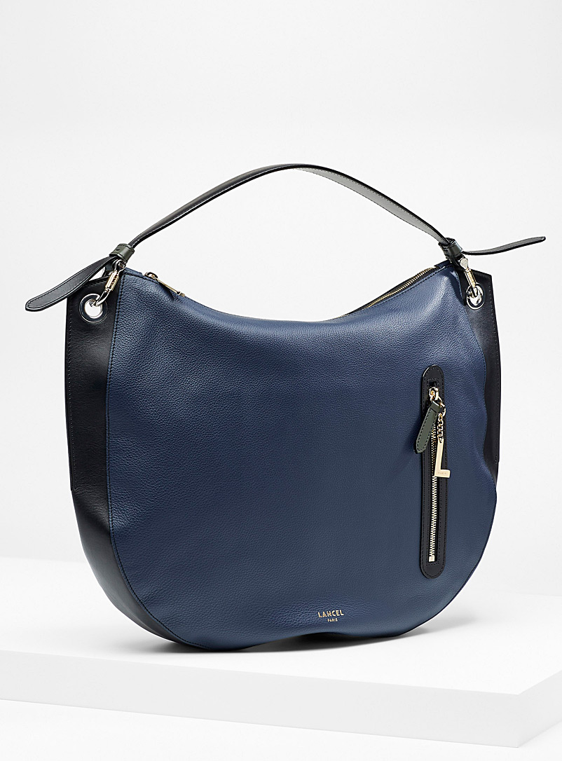 Lancel Patterned Blue Ellie L saddle bag for women