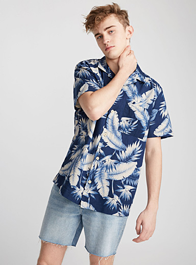 La camp shirt Bert feuillage tropical