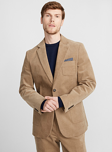 Stretch corduroy jacket  Semi-slim fit