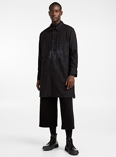 Abstract long overshirt