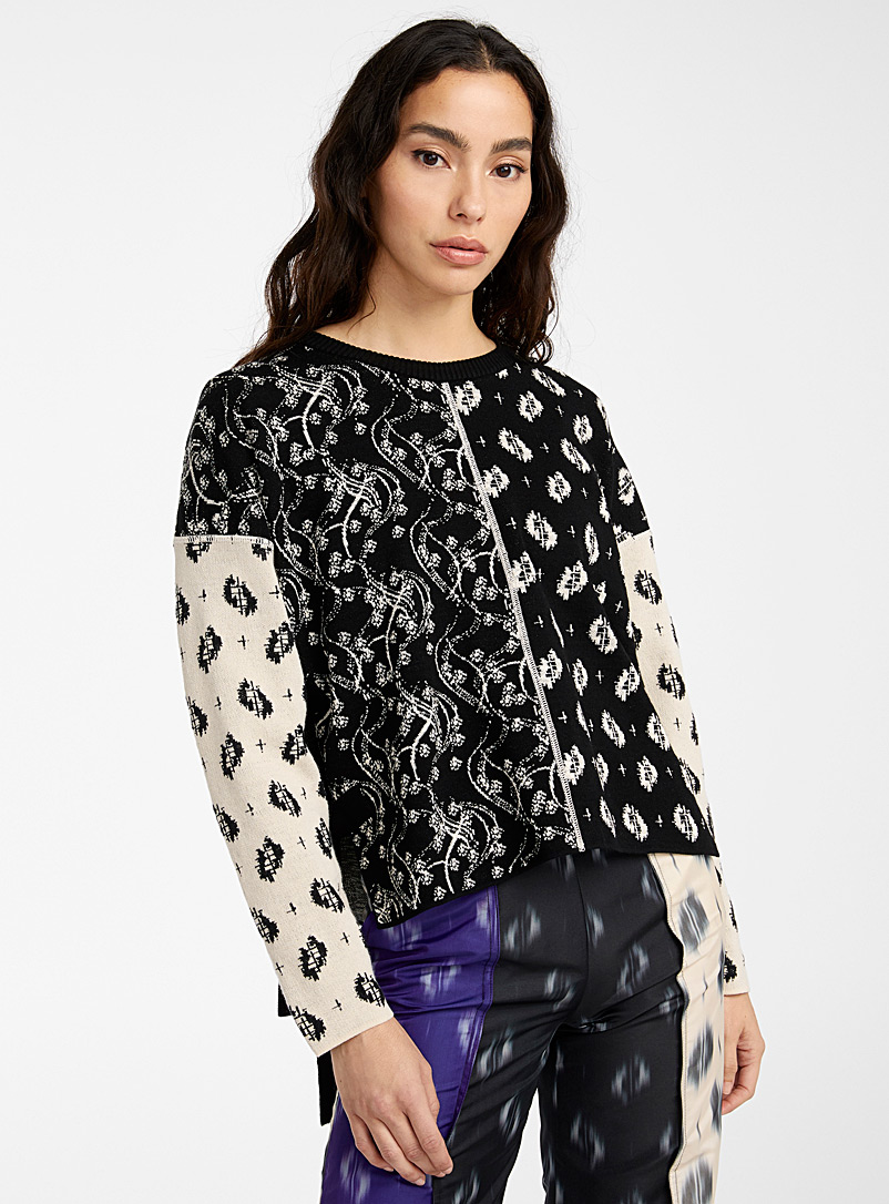 Kenzo Black Ikat & Urchin Waves sweater for women