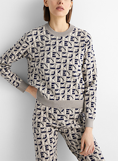 Monogram jacquard sweater