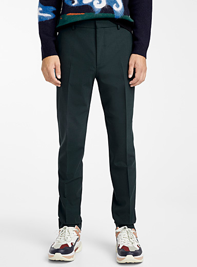 Embroidered signature pant