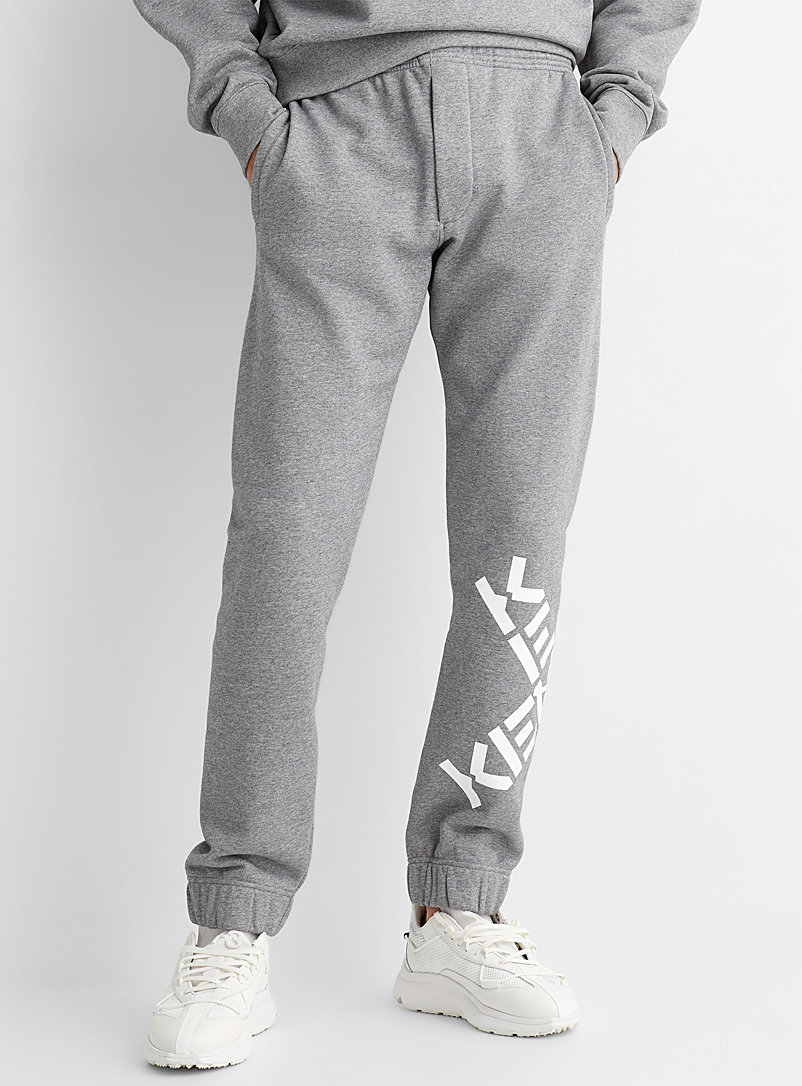 Kenzo Grey Little X classic heathered jogger pant for men