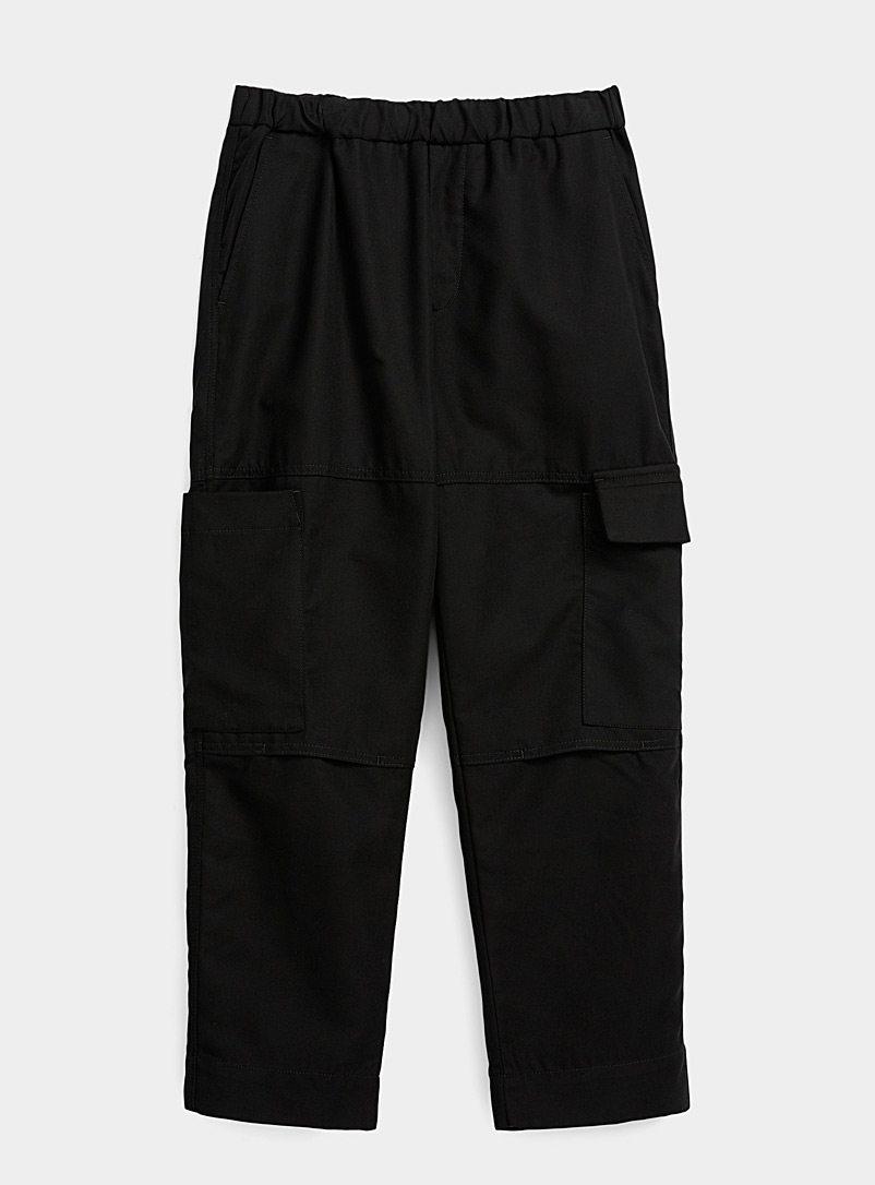 Kenzo Black Cropped cargo pant for men
