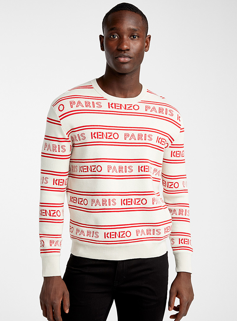 Kenzo: Le pull jacquard Kenzo intégral Blanc pour homme